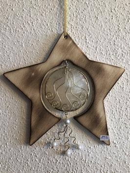 Stern mit Perlmuttkreis/Perlen-klein