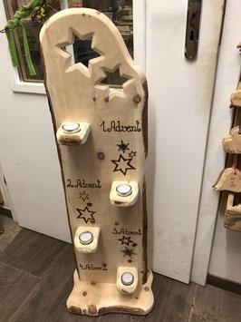 """Zirbenaufsteller """"Advent-Sterne"""""""