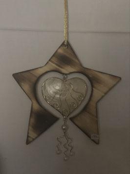 Stern mit Perlmuttherz/Perlen-klein