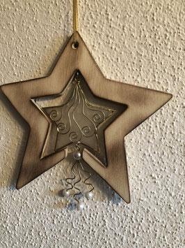 Stern mit Perlmuttstern/Perlen-klein