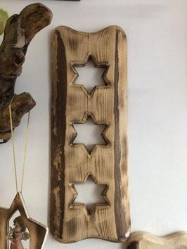 Brett mit 3 Sternen zum hängen