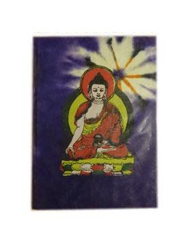 Bloc note violet, avec un bouddha