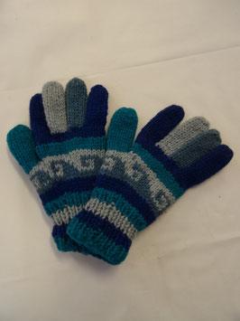 Gant à doigts bleu
