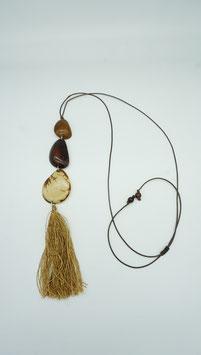 Tagua-Kette Amaru braun-natur/ Tagua Necklace Amaru brown-nature