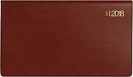 TM 17 8,7x15,3cm Kunststoff-Einband Bordeaux Modell 12212 - Rido Taschenkalender 2021