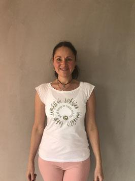 lokah samastah sukhino bhavantu Organic Shirt weiß
