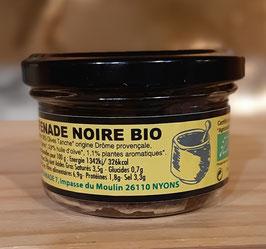 Tapenade noire BIO aux olives noires variété Tanche 90 gr