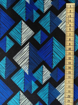 Jersey Tangram blau töne
