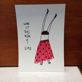 """Postkarte """"1 Life"""""""