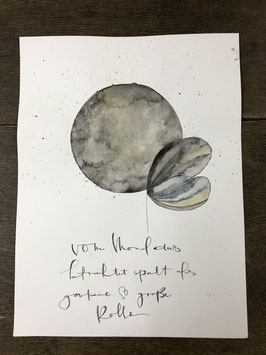 "Aquarell ""Vom Mond aus"""