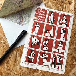 """Briefmarken """"Feine Damenunterwäsche"""""""