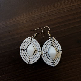 Massaii Earrings White