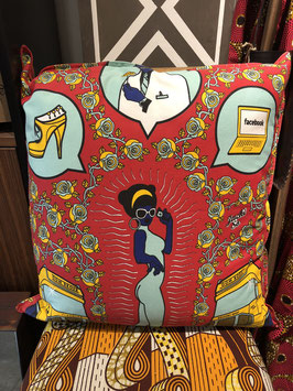 CUSHION COVERS 60 X 60 CM (WOMAN FACEBOOK RED)