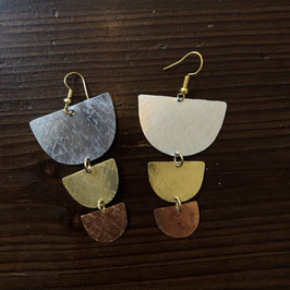 Handmade Gold / Silver / Bronze Earrings