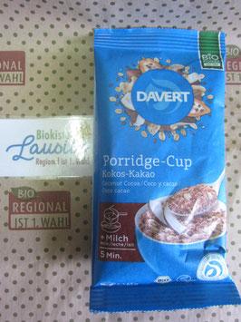 Davert Bio Porridge Cup Kokos Kakao 65g