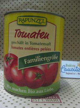 Rapunzel Bio ganze geschälte Tomaten 800g Dose