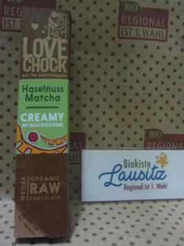 Bio Lovechock Creamy Haselnuss Matcha 40g