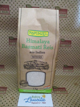 Rapunzel Bio Himalaya Basmati Reis weiß 1kg