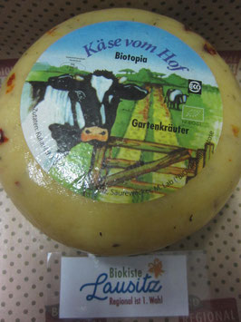 Bio Gouda Gartenkräuter ca. 1 kg Laib (17,90 € / kg)