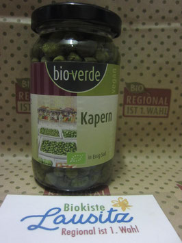 Bio Kapern in Essig-Sud 180g Glas (bio-verde)