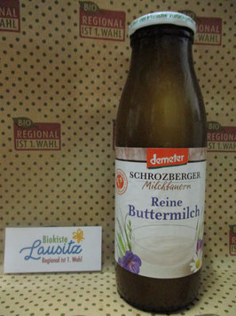 Bio Buttermilch 500g Glas