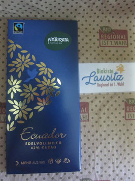Naturata Bio Edelvollmilch Schokolade Ecuador 42% 100g