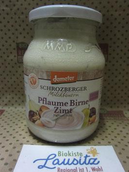 Schrozberger Bio Joghurt Pflume Birne Zimt 500g Glas