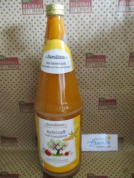Landlese Bio Apfelsaft mit Sanddorn 1l