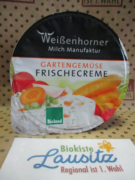 Bio Frischkäse Gartengemüse Frischecreme 150g (Weißenhorner)
