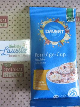 Davert Bio Porridge Cup Früchte 65g