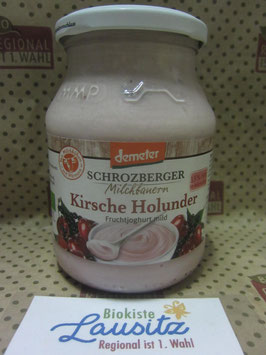 Schrozberger Bio Joghur Kirsche Holunder 500g Glas