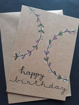 Happy Birthday halve cirkels