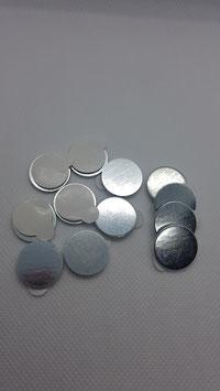 Fixklebende Stahlplättchen 50 Stück