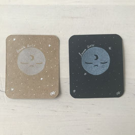Mini Cartes Luna 7 x 6 cm
