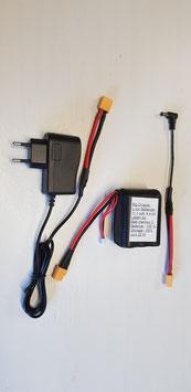 Li-ion batterij + lader voor dieptemeters, fishfinders