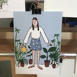 Postkarte - Jana Polak - Plantlady II