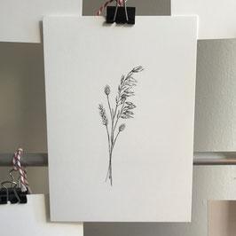 Postkarte - Trockenblumenstrauß