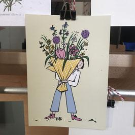 Postkarte - Jana Polak - Blumenstrauß