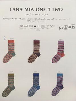 Lana Mia One 4 Two - Merino Sockenwolle