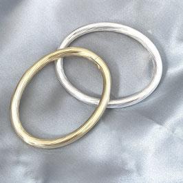 """Armreif silber """"Casablanca"""" mit Twist, Steckverschluss, 6 mm Durchmesser rund, ovales Profil"""
