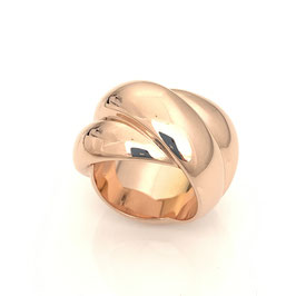 "Magnificent triple ring ""Darling"" made of 925 sterling silver in rosegold"
