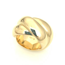 "Magnificent triple ring ""Darling"" made of 925 sterling silver in gold"