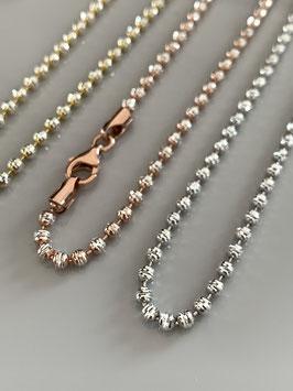 """Wunderschöne Halskette """"Sparkle mini"""" aus Silber mit Funkel-Effekt"""