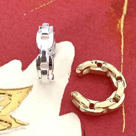 """Earcuff """"Chain"""" aus recyceltem 925 Silber, 16 mm Durchmesser, 5 mm Breite"""