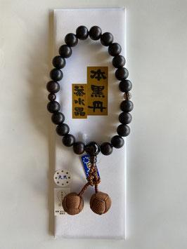本黒丹 茶水晶 略式数珠
