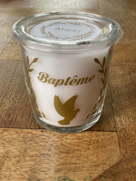 Bougie parfumée baptême