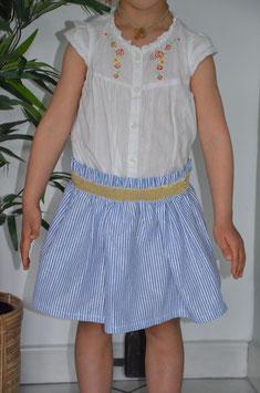 Jupe Daisy bleue 4 ans