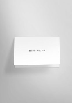 persönlicher Neujahrsgruß auf Risographie-Klappkarte im Format A6