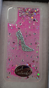 """ Heelclothes Special iPhone case for iPhone X and XS models Swarovski Crystal """