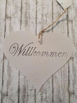 """Schild"""" Willkommen"""""""